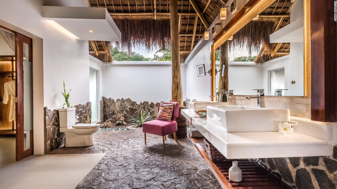<strong>Atmosphere Resort & Spa, Negros Oriental: </strong>The rooms give off a barefoot luxury vibe, with mixed textures, natural materials and open-air bathrooms.