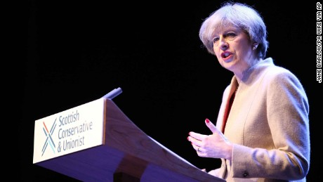 Theresa May: Scotland's government 'obsessed' with independence
