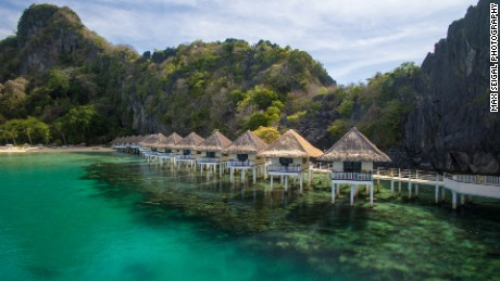 Apulit Island's over-water cottages promise unobstructed views.