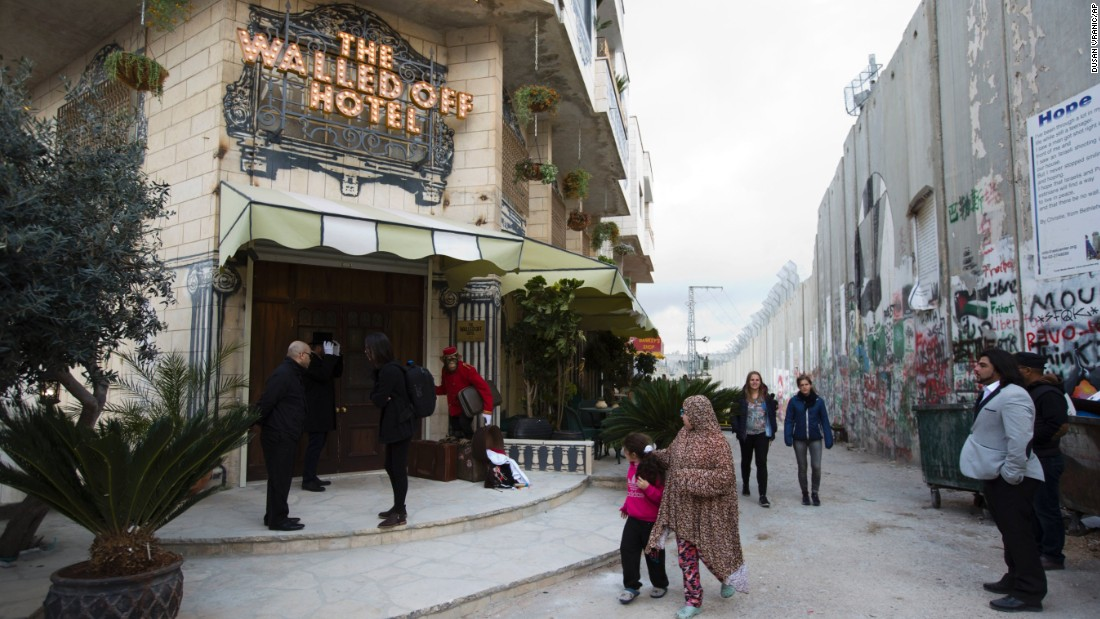 Banksy has opened a boutique art hotel in Bethlehem.