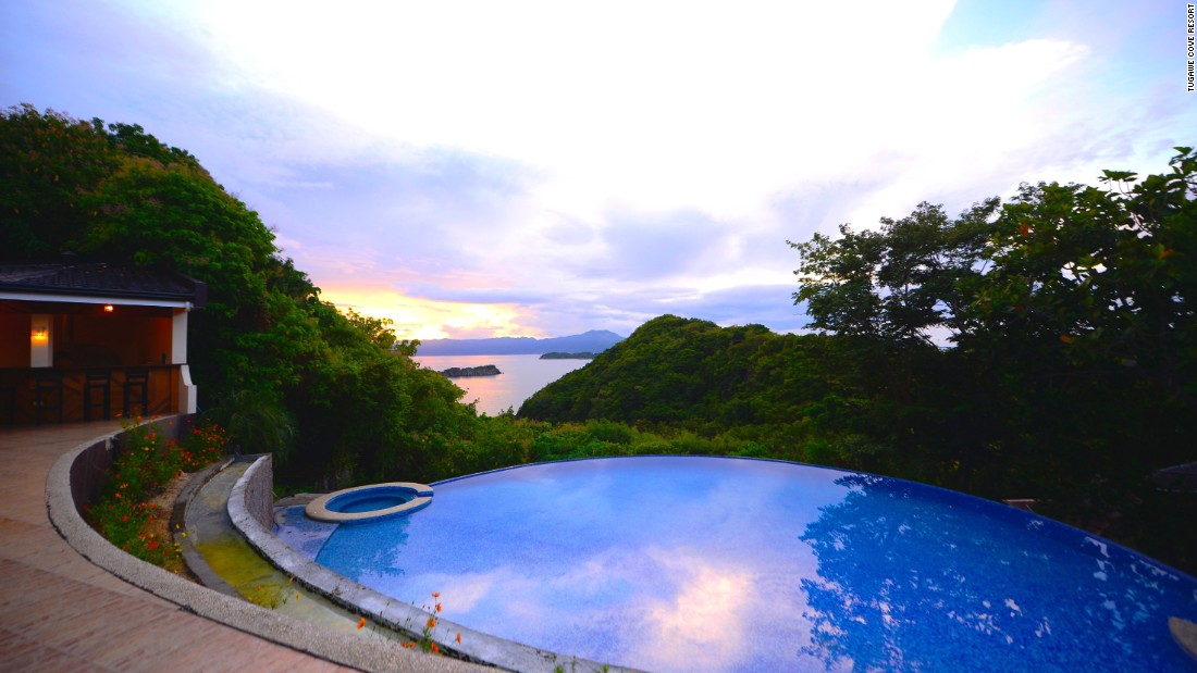 <strong>Tugawe Cove Resort, Caramoan Island:</strong> Built along a hillside above Lauing Bay on Caramoan Island, the elevated outpost offers panoramic views of Sombrero, Loto and Litao islands in the distance.