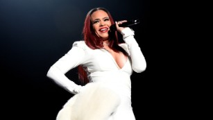 Faith Evans performs onstage during the Bad Boy Family Reunion Tour in 2016.
