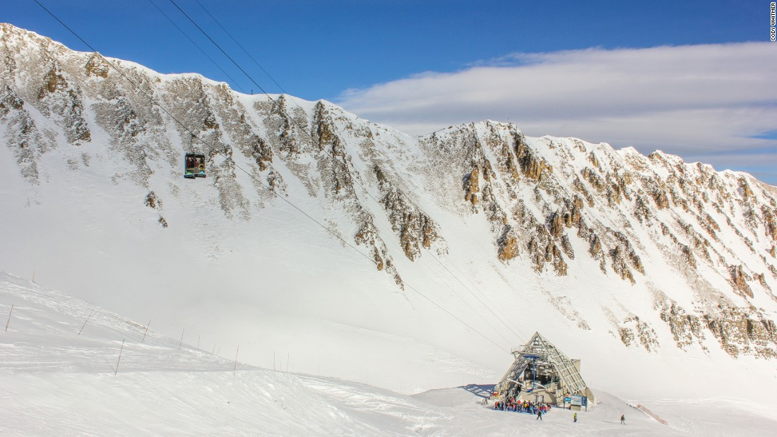<strong>Lone Peak tram, Big Sky, Montana -- </strong>This 15-passenger aerial tramway climbs 433 meters up a sheer rock face to land skiers and boarders on the summit of Lone Mountain.
