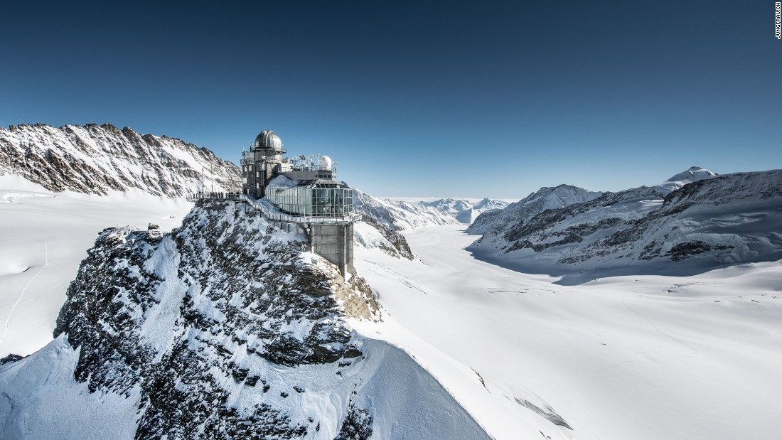 <strong>Jungfrau railway, Kleine Scheidegg, Switzerland --</strong> Built in 1912, the Jungrau terminates at the Sphinx Observatory, where alpinists can venture in the high-altitude heart of the Bernese Oberland.