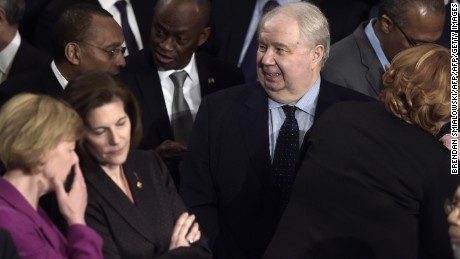 Russian Ambassador to the US Sergey Kislyak arrives before US President Donald Trump addresses a joint session of the US Congress on February 28, 2017.