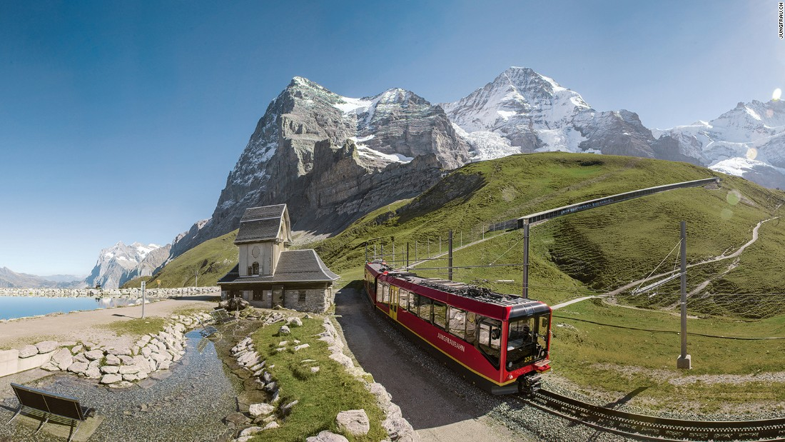 <strong>Jungfrau railway -- </strong>For most of its 9.3 kilometer journey, the railway runs through the Jungfrau tunnel, up through the Eiger and the Monch mountains