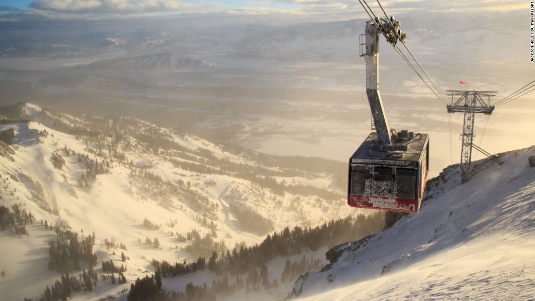 "<strong>Jackson Hole tram, Wyoming -- </strong>Nicknamed ""Big Red,"" this skiing institution scoops up 100 people from Jackson Hole Mountain Resort and plonks them on top of Rendevous Peak at 3,190 meters in nine minutes.<br />"