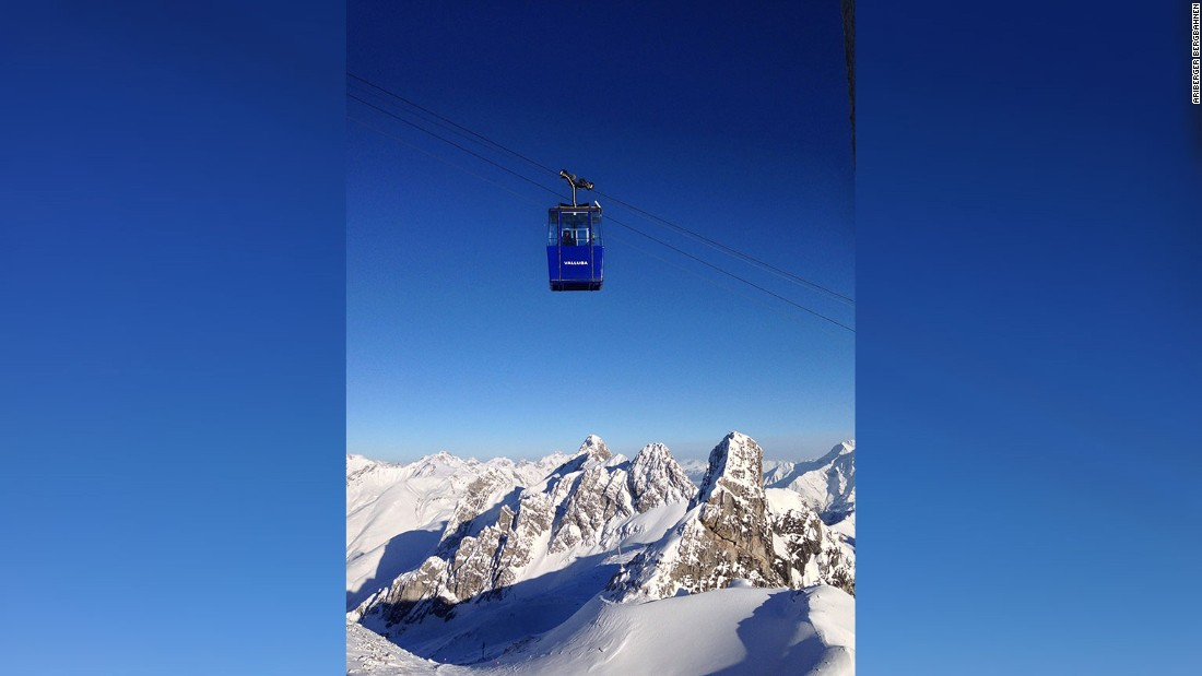 <strong>Valluga, St. Anton, Austria -- </strong>Only groups accompanied by a mountain guide can access this five-person sardine can. The reward for investing in professional know-how is to access some of the Alps' best off-piste.