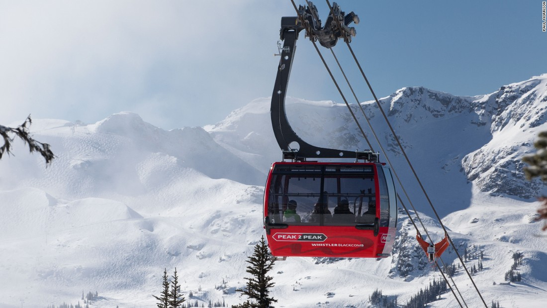 <strong>Peak 2 Peak, Whistler-Blackcomb, Canada -- </strong>A record-breaker, this lift connecting two ski areas separated by a ravine boasts the longest unsupported span at 3.024 kilometers.