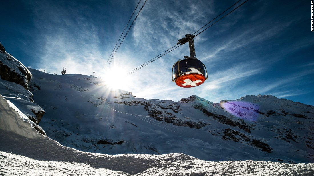 <strong>Titlis Rotair, Engleberg, Switzerland -- </strong>Some ski lifts offer much more than a fast ride to the top of the mountain. The Titlis Rotair makes a complete 360-degree spin as it climbs  above the town of Engleberg.