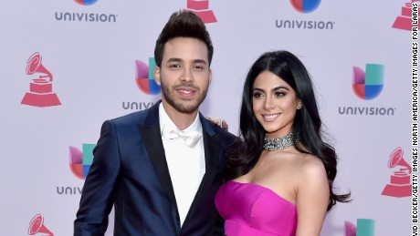 LAS VEGAS, NV - NOVEMBER 19:  Recording artist Prince Royce (L) and actress Emeraude Toubia attend the 16th Latin GRAMMY Awards at the MGM Grand Garden Arena on November 19, 2015 in Las Vegas, Nevada.  (Photo by David Becker/Getty Images for LARAS)