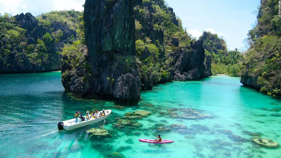 <strong>Palawan, The Philippines:</strong> Surrounded by karst rock formations, Palawan anchors the southwest corner of the Philippines. It's a largely undeveloped island that channels the wild vibe of nearby Borneo.