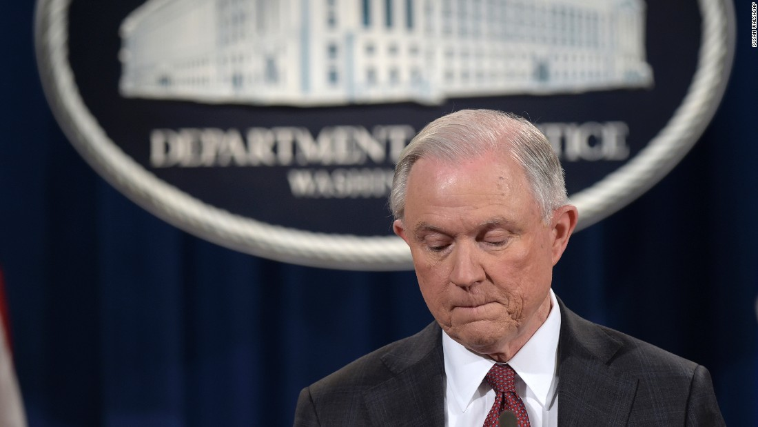 "US Attorney General Jeff Sessions pauses during a news conference in Washington on Thursday, March 2. In a statement, Sessions <a href=""http://www.cnn.com/2017/03/02/politics/democrats-sessions-russia-resignation-call/index.html"" target=""_blank"">recused himself</a> from any investigation related to President Donald Trump's 2016 campaign. He made the decision after it emerged that he failed at his Senate confirmation hearing to disclose two pre-election meetings with Moscow's ambassador to Washington. Sessions spokeswoman Sarah Isgur Flores said there was nothing ""misleading about his answer"" to Congress because the Alabama Republican ""was asked during the hearing about communications between Russia and the Trump campaign -- not about meetings he took as a senator and a member of the Armed Services Committee."" She said Sessions had more than 25 conversations with foreign ambassadors last year."