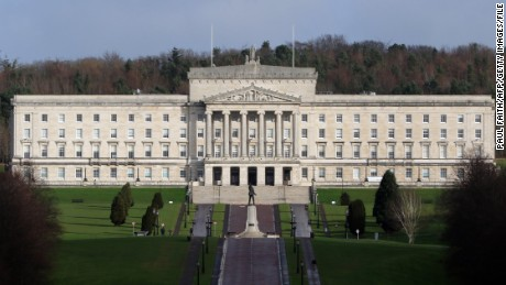 The Parliament Buildings at Stormont are pictured in Belfast on January 25, 2017. Northern Ireland will hold snap elections on March 2, 2017 in a bid to resolve its worst political crisis in years after the power-sharing executive collapsed on January 16, 2017. Under the rules of the power-sharing government, which was set up as part of the peace process, the January 10, 2107 resignation of Deputy First minister Martin McGuinness, of Sinn Fein, forced First Minister Arlene Foster, from the rival Democratic Unionist Party, to also step down. / AFP / Paul FAITH        (Photo credit should read PAUL FAITH/AFP/Getty Images)
