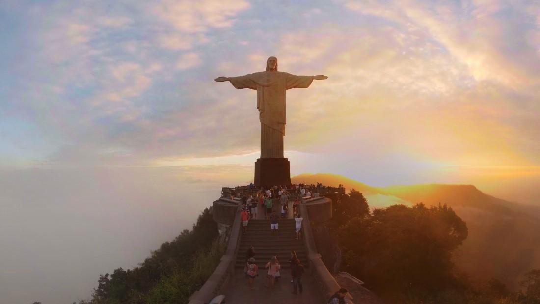 Sunset on Rio's Christ the Redeemer - CNN.com