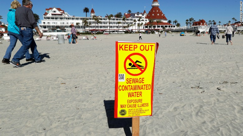 A massive Mexico-US raw sewage spill is under investigation