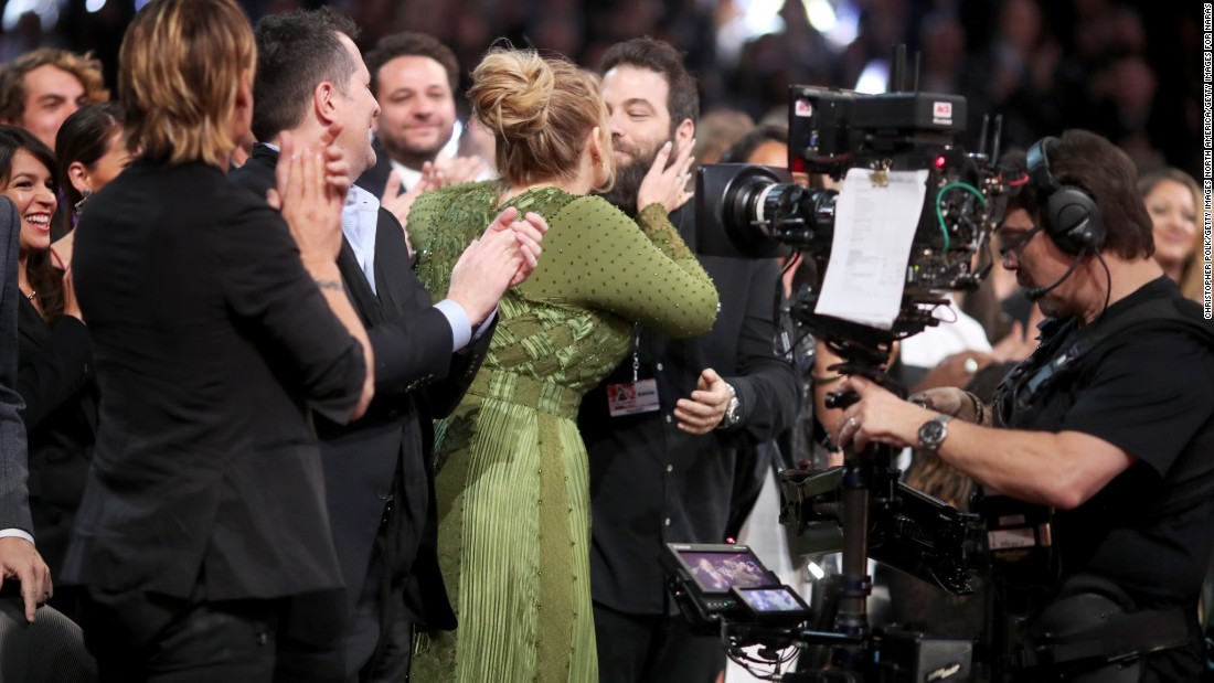 "Singer Adele kisses Simon Konecki during the Grammy Awards in February 2017. <a href=""http://www.cnn.com/2017/03/05/entertainment/adele-confirms-marriage/index.html"">Adele  confirmed during a concert in Brisbane, Australia, </a>that she and Konecki are married."
