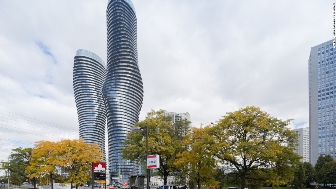 Ma Yansong was initially commissioned to design just one tower for the Toronto suburb, but when all 400 sold in one day, the developers requested a second. Because of their curvy shape, the pair are popularly known as the Marilyn Monroe towers.
