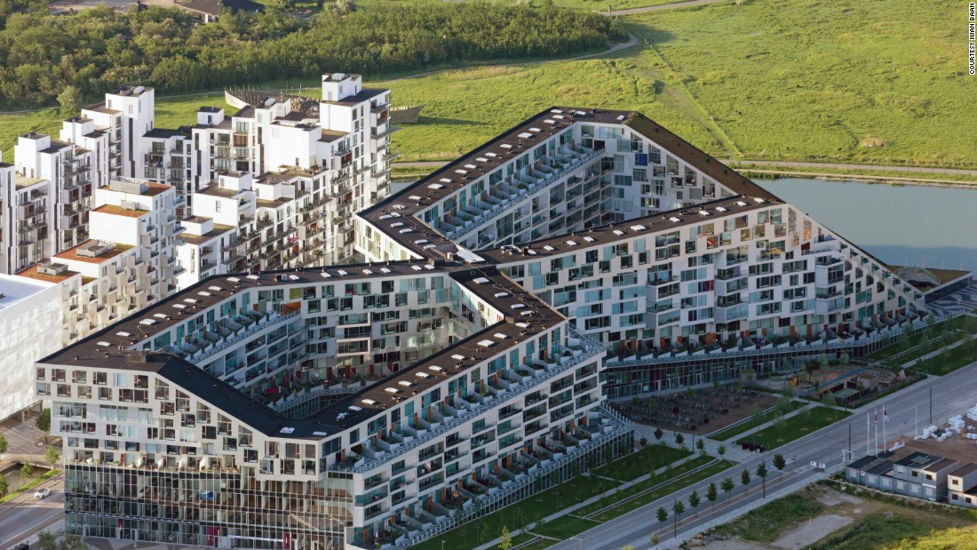 This multipurpose complex, architect Bjarke Ingels' third residential project, gets its name from its unusual figure eight shape. The ground-level shops and courtyards are open to the public to encourage social interaction and foster community.