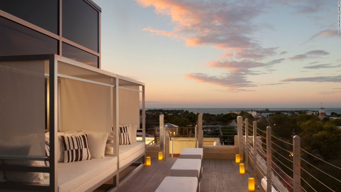 The rooftop spa at La Concha hotel offers treatment rooms and terraces with fabulous views.