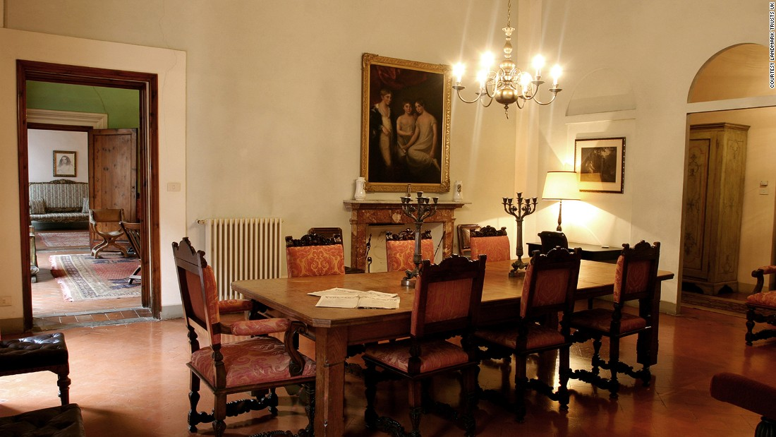 <strong>Casa Guidi, Italy: </strong>The former home of poets Elizabeth and Robert Browning, Casa Guidi was restored in the likeness of a painting commissioned soon after Elizabeth's death in 1861. It houses three bedrooms -- all romantically decorated.