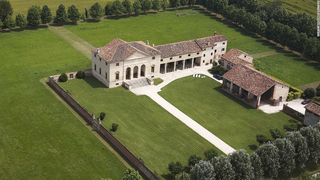 <strong>Villa Saraceno, Italy: </strong>Part of the UNESCO World Heritage Site of the Palladian Villas of the Veneto, 400-year-old Villa Saraceno is like a grand museum -- that you and your 15 guests can live in -- with frescoes of Greek mortals and goddesses adorning its ceilings.