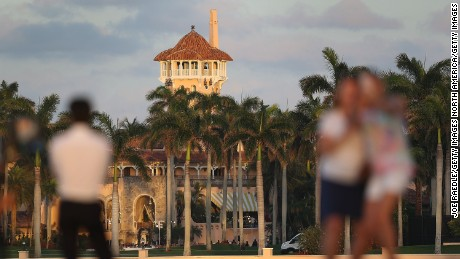 President Trump spent the weekend at Mar a Lago.
