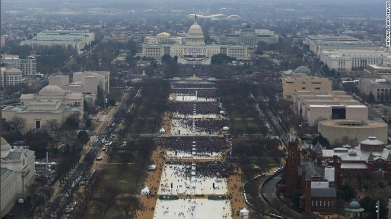NPS releases photos of crowd size at Obama, Trump inaugurations ...