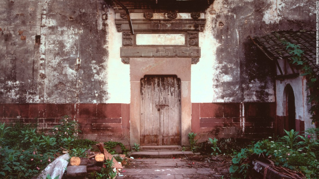 Yin Yu Tang's front entrance is seen before it was moved to the US.