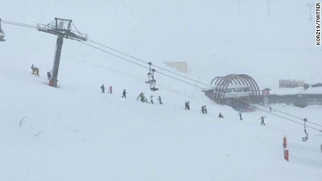 Tignes was hit by an avalanche Tuesday.