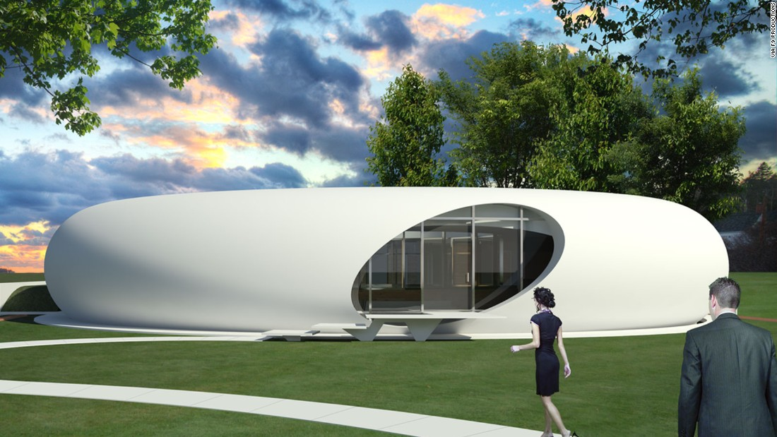 Colorado-based architecture firm F9 Productions devised a series of homes, called DoomsDay Dwellings, that are meant to stand up to various disasters. The Genesis House is lowered into the ground on a hydraulic pump and covered with a blast resistant cap.