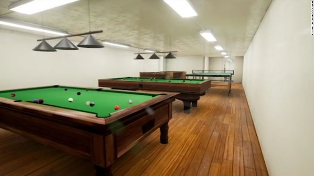 Rising S Company, a manufacturer of safe rooms, storm shelters, and steel underground bunkers, offers several high-end models, including the Aristocrat, which is priced at $8.35 million. The design incorporates a games room, bowling alley, gun range, garage and a pool.