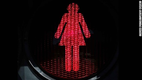 "Melbourne's new ""female"" pedestrian lights have sparked mockery on social media."