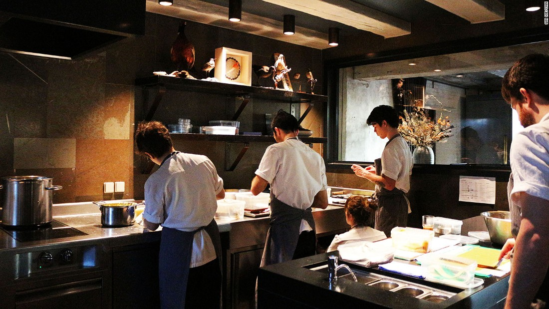 <strong>The layout of the kitchen: </strong>The classic kitchen layout that segregates savory and sauce sections and relegates pastry to the sidelines (desserts)  was banished at Noma.