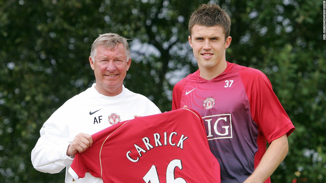 But after two seasons at White Hart Lane, Carrick was lured to United by Sir Alex Ferguson, taking former captain Roy Keane's iconic number 16 shirt.