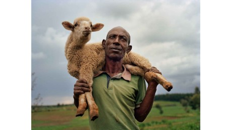 Farmer Michael Mwangi, 48, in the village of Haraka, Nakuru County, Kenya
