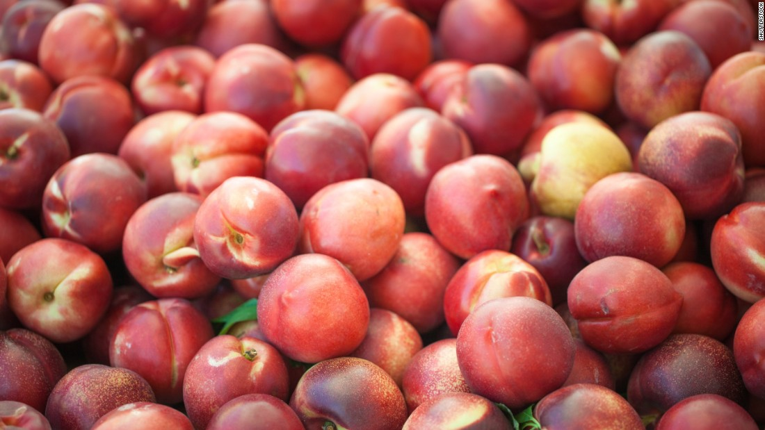 Nectarines remained in the third spot on the list. Nearly all samples of strawberries, spinach, peaches, nectarines, cherries and apples tested positive for residue of at least one pesticide, according to the group.