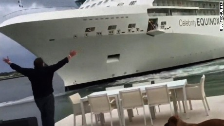 cruise ship close call