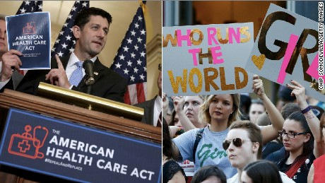 The two big stories today: GOP markup of the new health care bill; and it's International Women's Day.
