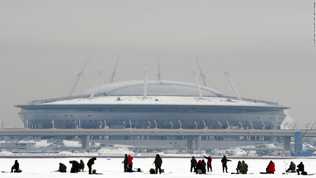 Built on Krestovsky Island where the 110,000-capacity Kirov Stadium used to stand in Russia's second-largest city, it was designed by late Japanese architect Kisho Kurosawa to look like a spaceship. The stadium is equipped with a retractable roof and sliding pitch. Inside, the temperature can be regulated to a mild 59 degrees Fahrenheit (15 C) all year round. <br />