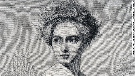 A portrait of Fanny Mendelssohn Hensel made from an engraving after a drawing by Hensel's husband, the painter Wilhelm Hensel.