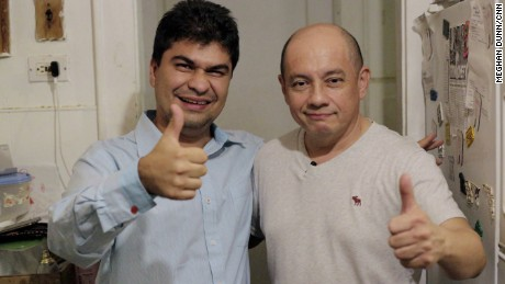 While in New York, 2016 CNN Hero of the Year Jeison Aristizábal made a special visit to Jorge Munoz, a fellow Colombian and 2009 Top 10 CNN Hero.