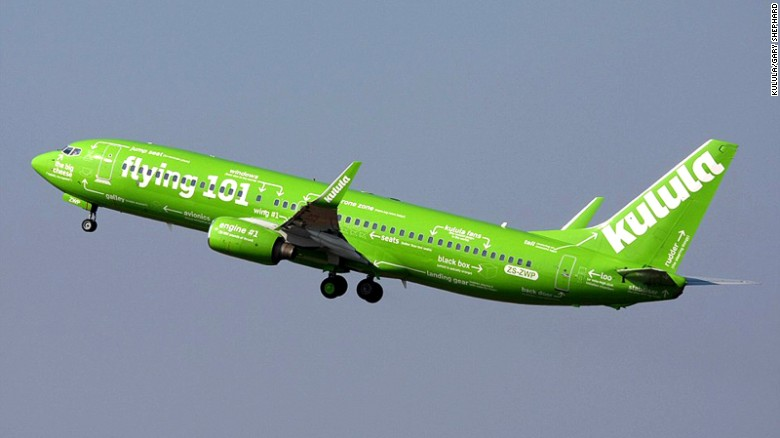 """<strong>Kulula -- Flying 101: </strong>If there's a better or more striking way to understand what's underneath the skin of a plane that Kulula's Flying 101 livery design, we've yet to see it. There's even a pointer to highlight the location of the """"black box"""" flight data recorder.<br />"""