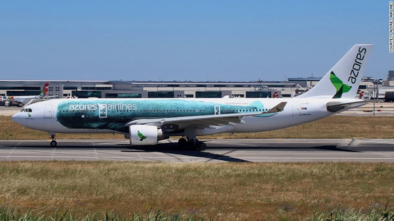 <strong>Azores Airlines -- Whale: </strong>In a nod to the Azores' claim to being one of the largest whale sanctuaries in the world, the Azores Airlines transformed its livery into a blue sperm whale. <br />