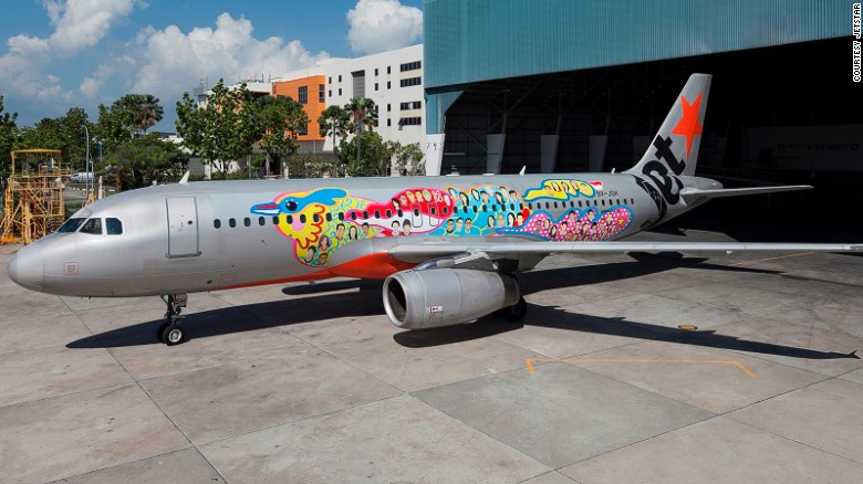 <strong>Jetstar -- Singaporeans: </strong>This aircraft design featuring a black-naped oriole -- a bird commonly found in Singapore -- and the faces of 50 everyday Singaporeans was Jetstar's way of marking Singapore's 50th National Day in 2015.