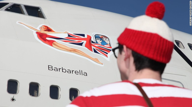 """<strong>Virgin Atlantic -- 'Where's Waldo?': </strong>Virgin Atlantic marked the 25th anniversary of """"Where's Waldo?"""" with a special livery."""