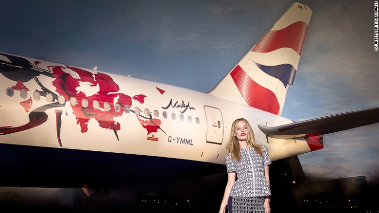 <strong>British Airways -- Fashion: </strong>This British Airways 777 aircraft livery was created by fashion designer Masha Ma. The east-meets-west design depicts a bamboo and a rose and pays homage to European impressionistic artistic techniques and Chinese ink-and-wash painting.