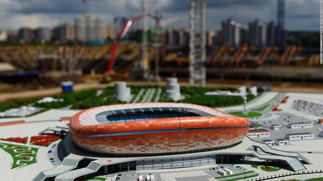 Set to feature a striking orange, red and white exterior, construction on the 44,442-seater venue began in 2010. Initially hoped to be completed two years later for the 1,000th anniversary of the Mordovian people's unification with Russia's other ethnic groups, it is now expected to be finished in 2017.