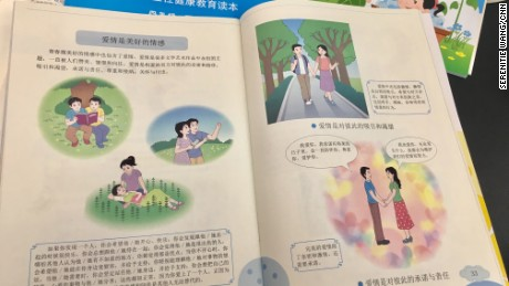 Controversy has erupted online over a series of textbooks for children in China that deal with sex and relationship issues.