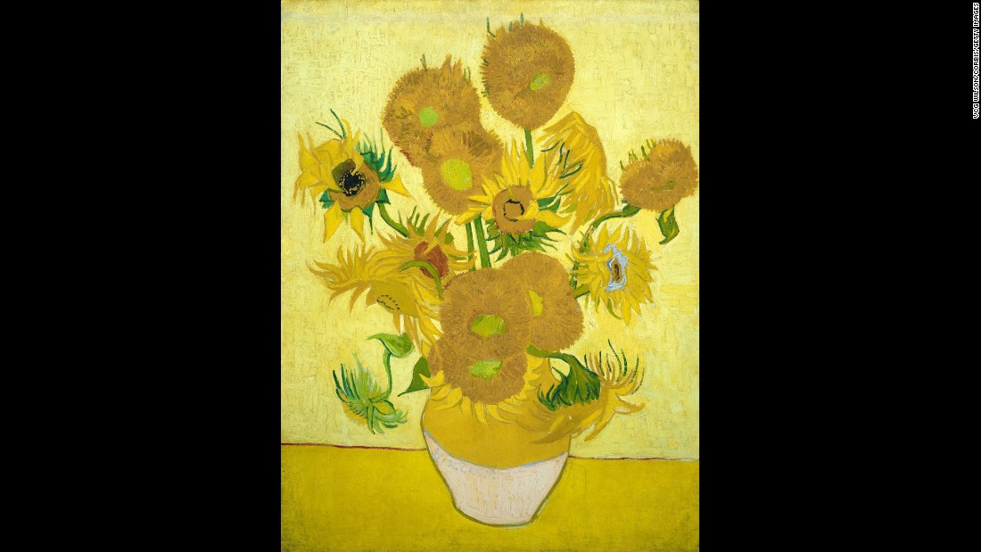 "In spite -- or perhaps because -- of his troubles, he created legendary masterpieces, such as his ""Sunflowers"" series, pictured here."